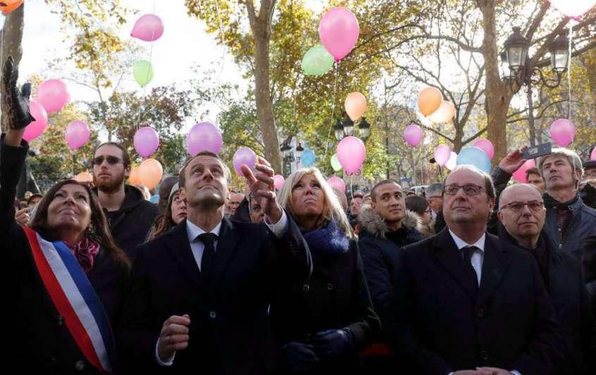 París recordó a las víctimas de los atentados de 2015