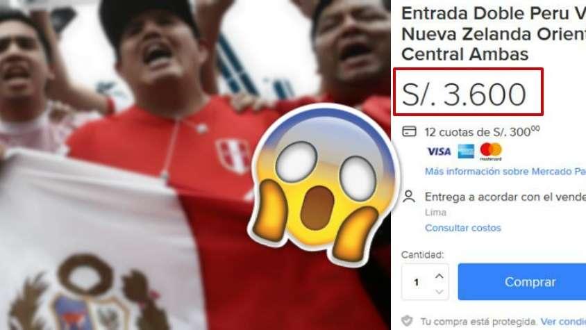 La reventa en Lima para Perú vs Nueva Zelanda: piden hasta 530 dólares por un ticket