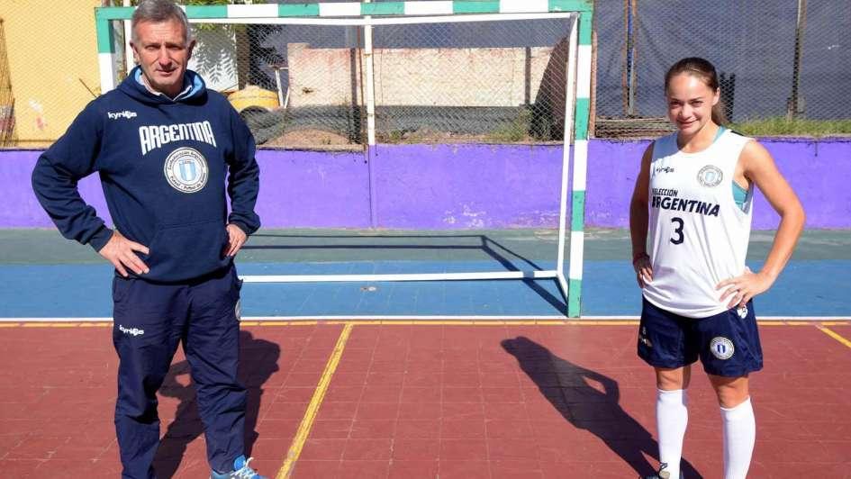 Estefanía Banini  volvió a su cuna, para jugar el Mundial de futsal en Cataluña
