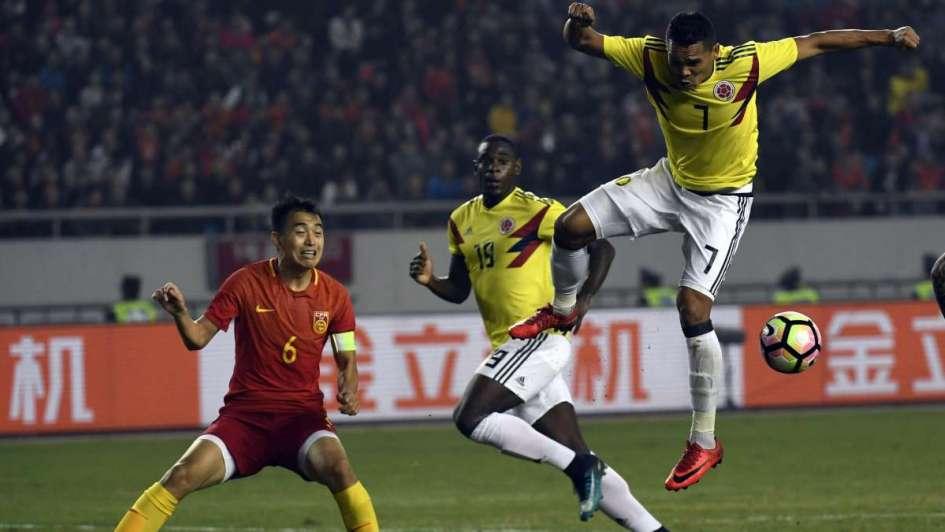Buen triunfo de Colombia ante China en su preparación para el Mundial