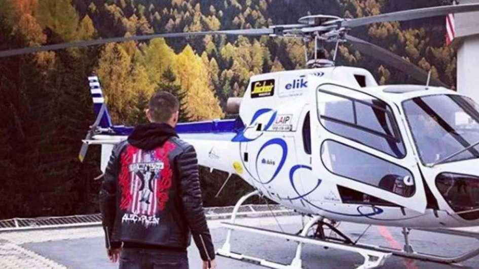 Crack: Icardi regresó de sus mini vacaciones y fue al entrenamiento en helicóptero