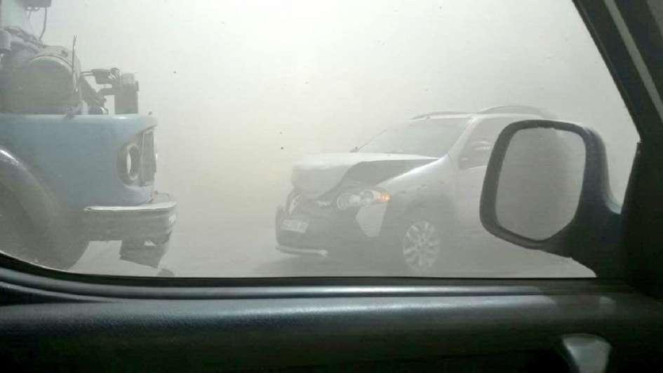 Cortaron la autopista Santa Fe - Rosario por el fuerte viento