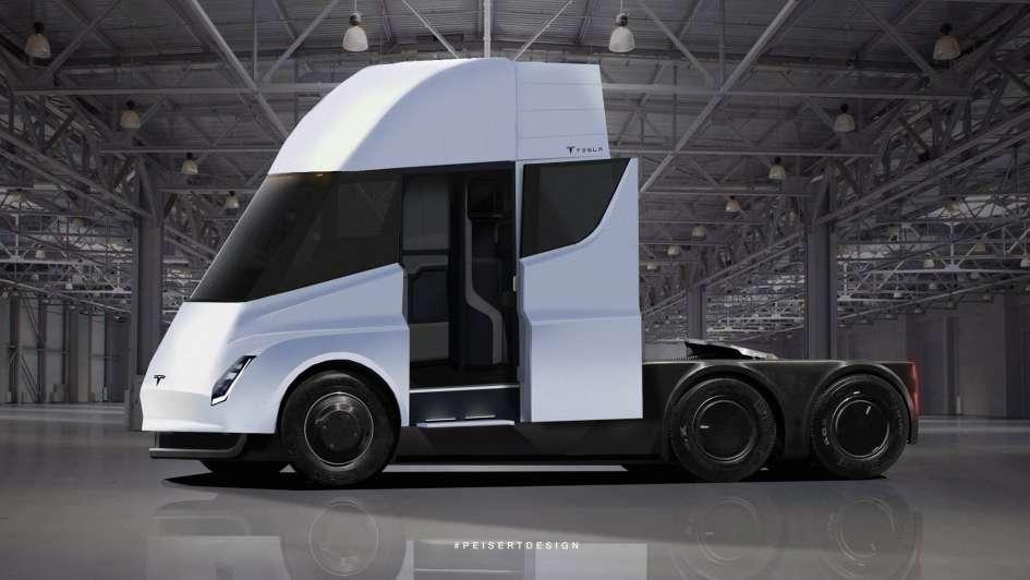 Así es Semi, el primer camión eléctrico que lanzará a la ruta la marca Tesla
