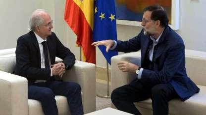 Ledezma (izq.) con el presidente español, que ya ha recibido a varios opositores notables.