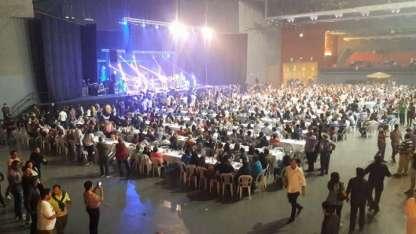 La gente dio el presente. Más de tres mil personas presentes en el Arena Maipú.