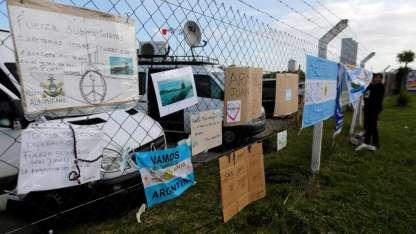 Muestras de cariño en la Base Naval de Mar del Plata