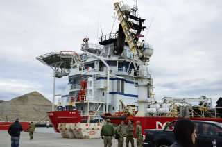 El buque Skandi Patagonia.