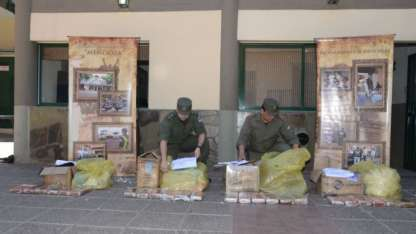 Efectivos de Gendarmería en pleno operativo / Gentileza.