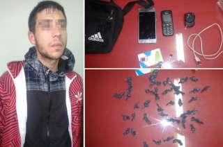 Los narcóticos fueron encontrados en un morral de Guillermo Guisaura.
