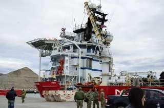 Uno de los buques que participa del operativo de búsqueda.