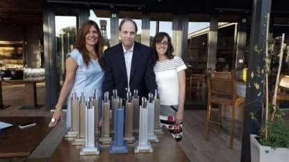 Marisol Biaggi, Diego Dillenberger y Carolina Tricarico en el Espacio Trapiche Maipú