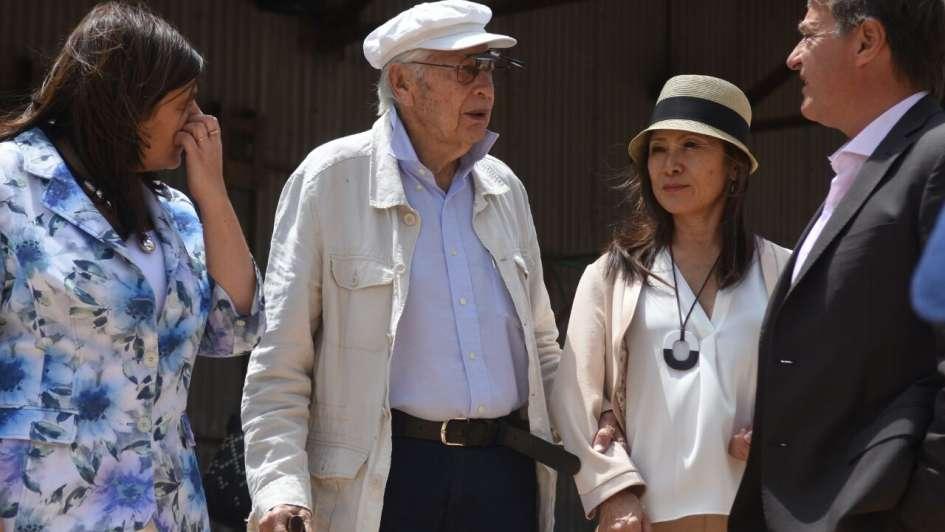 Julio Le Parc, en su tierra natal: fue declarado padrino cultural de la Ciudad