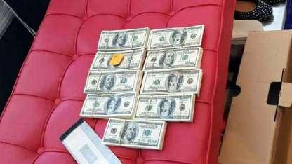 Los dólares que fueron hallados en el inicio del procedimiento en la casa del matrimonio.