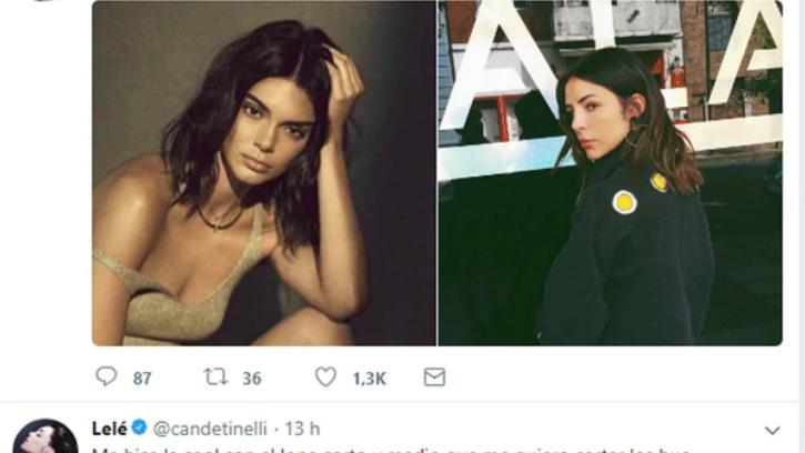 El fallido cambio de look de Candelaria Tinelli
