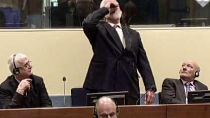 Slobodan Praljak ingirió el veneno mientras le comunicaban una condena de 20 años.