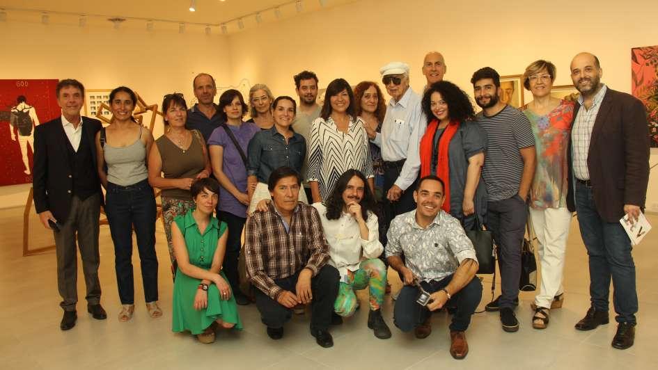 Julio Le Parc visitó ARTEH, el nuevo espacio de arte de Hipercerámico