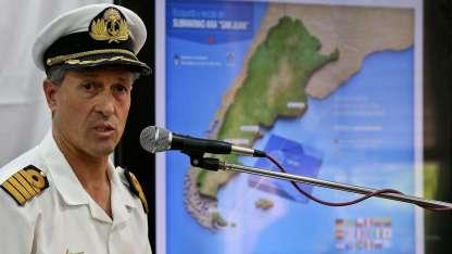 Enrique Balbi, el portavoz de la Armada, en una de sus