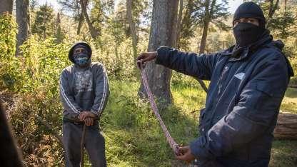 Los mapuches se instalaron en septiembre en un terreno de 500 hectáreas, al sur de Bariloche