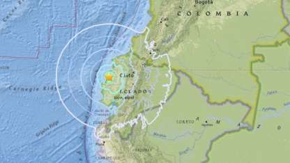 Un sismo de 6 grados sacudió a varias provincias ecuatorianas.