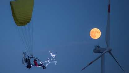 Superluna en Sieversdorf, Alemania-AP