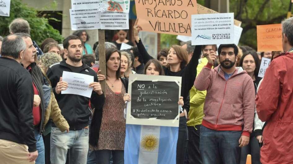 Solidaridad con Villalba y críticas a Casanello — Glaciares