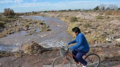 El río Atuel, en su paso por San Rafael
