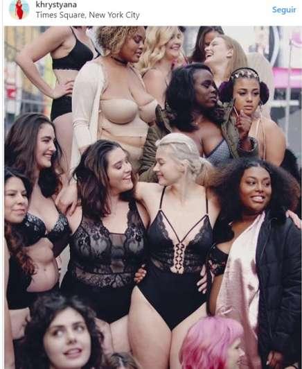 Times Square en Nueva York es invadido por modelos Plus Size