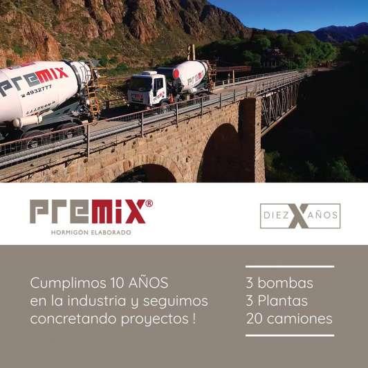 Premix cumple 10 años produciendo hormigón elaborado