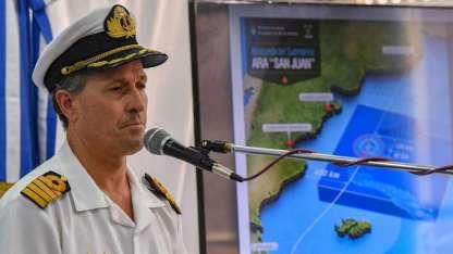 El capitán Enrique Balbi indicó esta mañana que el buque Atlantis investiga uno de los contactos