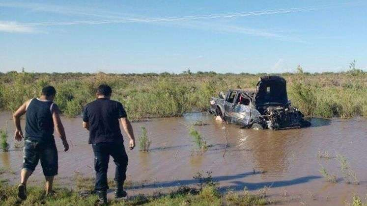 Terrible accidente: Una camioneta volcó en la Ruta 20