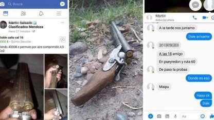 El aprehendido ofrecía una escopeta por Facebook.