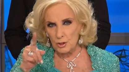 """Mirtha Legrand, furiosa por no ganar los Premios Tato: """"No vengo nunca más"""""""