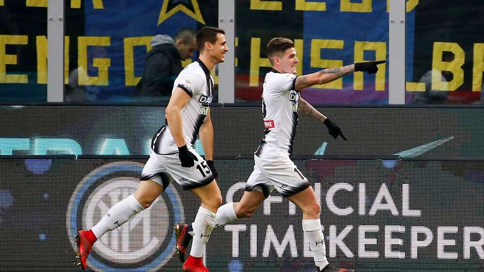 Inter cayó ante Udinese e hipotecó el liderato de la Serie A