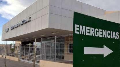 La guardia del hospital Metraux -Maipú- donde fueron atendidos dos de los tres heridos de bala.