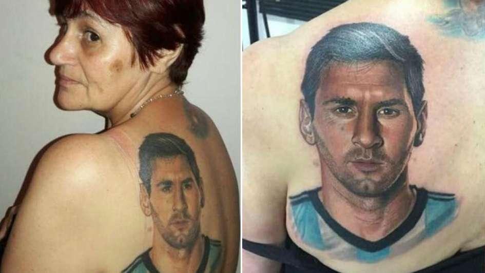 El Impresionante Tatuaje De Messi Que Se Hizo Una Señora De 54 Años
