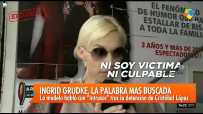 Ingrid Grudke confirmó que se separó de Cristóbal López