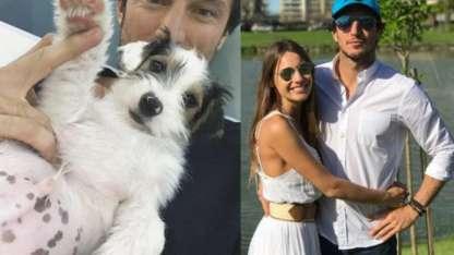Pico Mónaco y Osvaldo, su perro