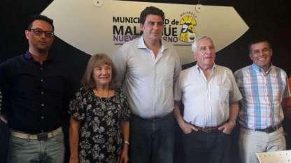 El intendente de Malargüe, Jorge Vergara Martínez  y el ministro de Economía, Infraestructura y Energía, Martín Kerchner.