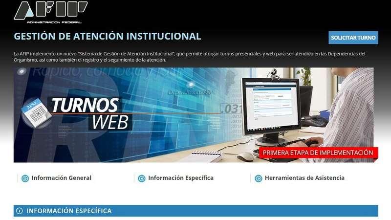 Será obligatorio sacar turnos por internet — AFIP