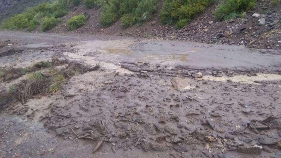 Malargüe: por las lluvias de anoche, hubo cortes en las rutas 40 y 226