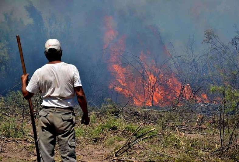 Según el Gobierno, el fuego en el sur está