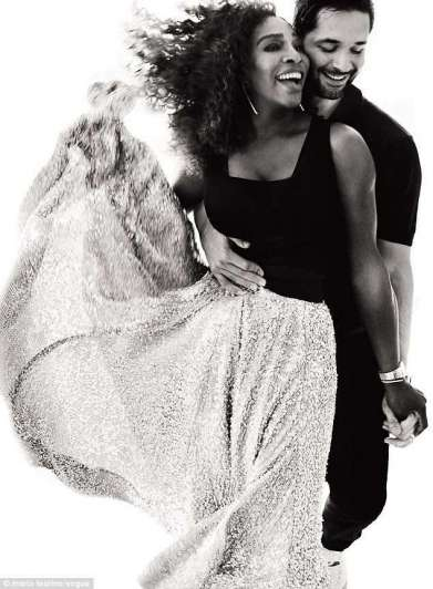 Serena en la revista Vogue con su hija