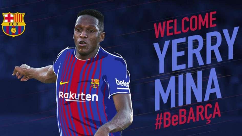 Colombiano Yerry Mina fue fichado por culés — Barcelona