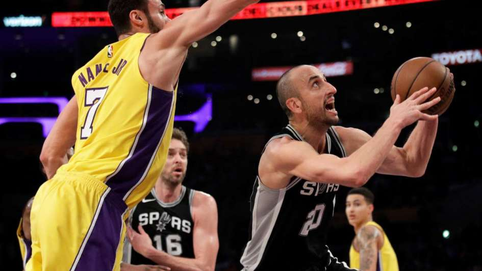 NBA: los Spurs de Ginóbili cayeron ante Los Lakers