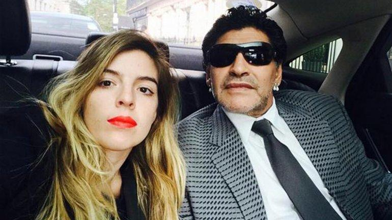 Maradona y Rocío Oliva tuvieron una celebración especial