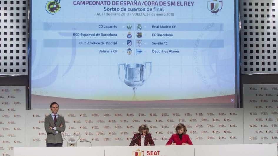 Copa del Rey: Leganés-Real Madrid, Espanyol-Barcelona, Atlético-Sevilla y Valencia-Alavés