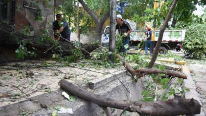 Las fuertes tormentas siguen causando estragos en distintos puntos de la provincia.