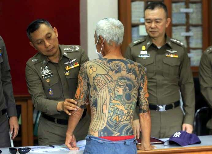 "Esta foto viral y sus tatuajes lograron arresto de jefe yakuza"""