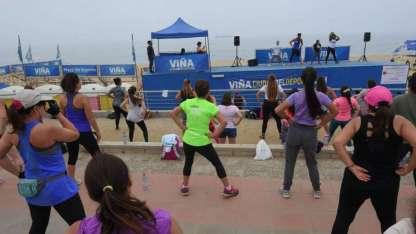 """""""Playa del Deporte"""" es un atractivo de Viña del Mar para los que deseen hacer ejercicio."""