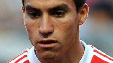 Gaitán, hoy, jugador del Atlético.